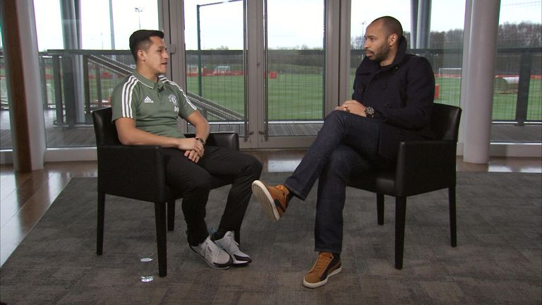 Thierry Henry meets Alexis Sanchez for an exclusive interview with Sky Sports