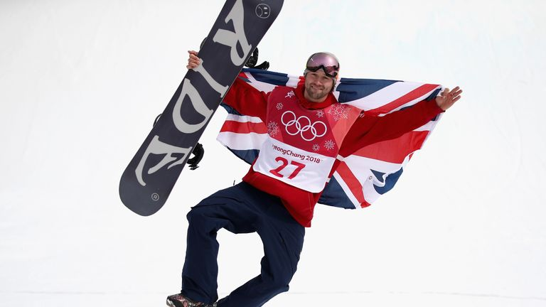 PYEONGCHANG-GUN, SOUTH KOREA - FEBRUARY 24:  Bronze medalist Billy Morgan of Great Britain celebrates during the victory ceremony after the Men's Big Air F