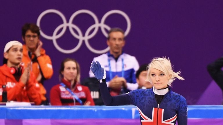 Team GB's Elise Christie
