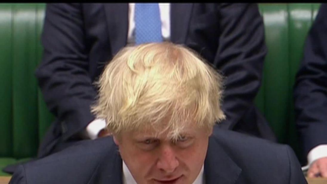 Boris Johnson is dressed down by John Bercow