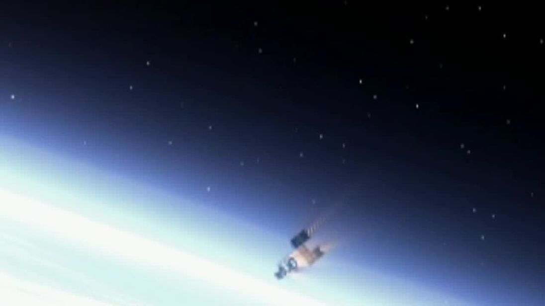 Satellite launched to harpoon 'dangerous' space junk