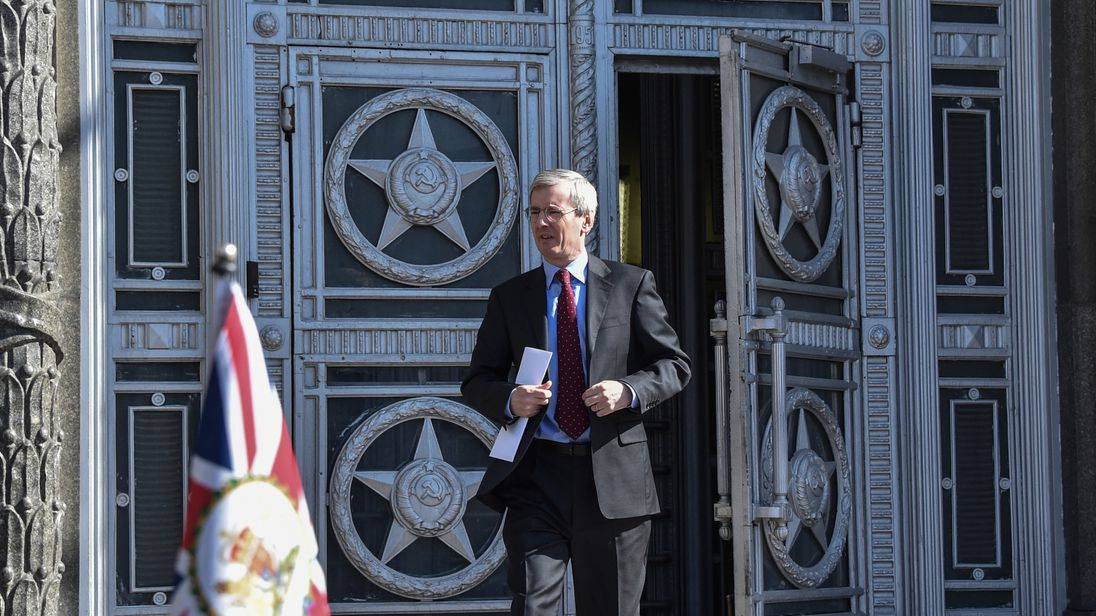 Laurie Bristow leaves the ministry in Moscow
