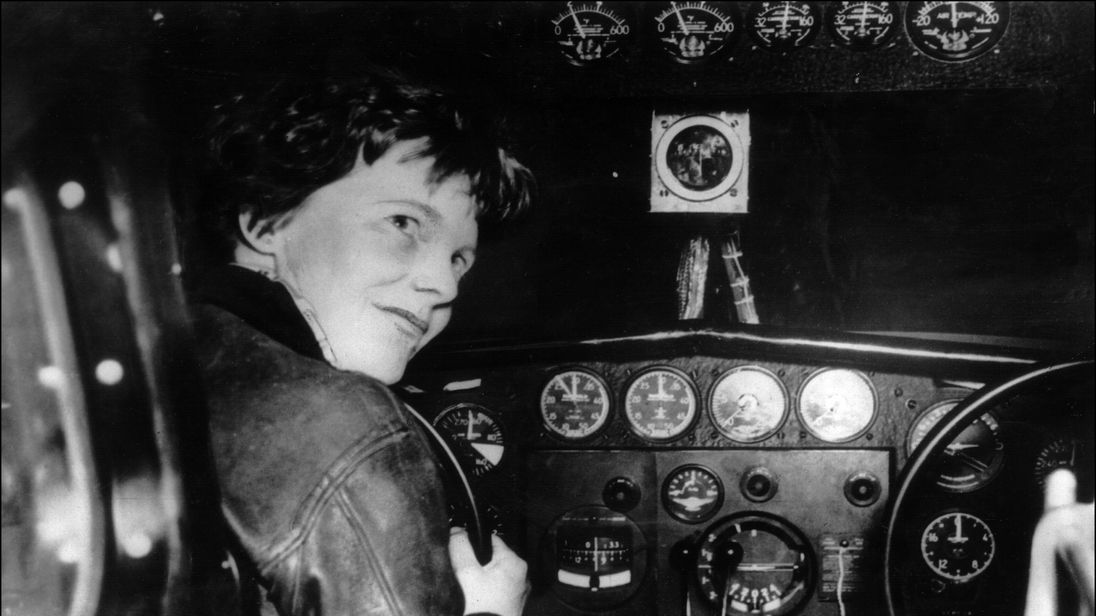 Undated picture taken in the 30' s of American female aviator Amelia Earhart beeing at the controls of her plane. Amelia Earhart was the first woman to fly the Atlantic as a passenger, in 1928, and followed this by a solo flight in 1932. In 1935 she flew solo from Hawaï to Califofrnia