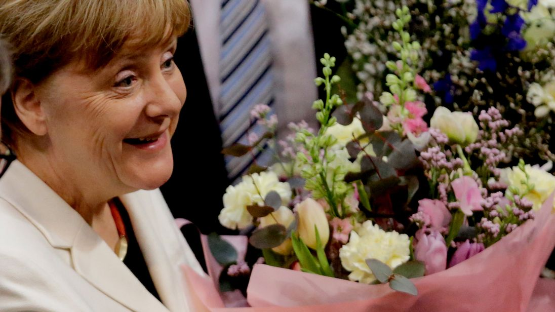 Angela Merkel was elected Chancellor in a secret ballot