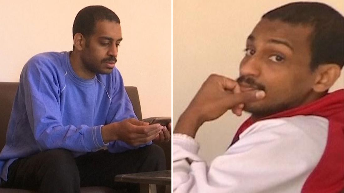 Alexanda Kotey (L) and Shafee Elsheikh have spoken out following their capture