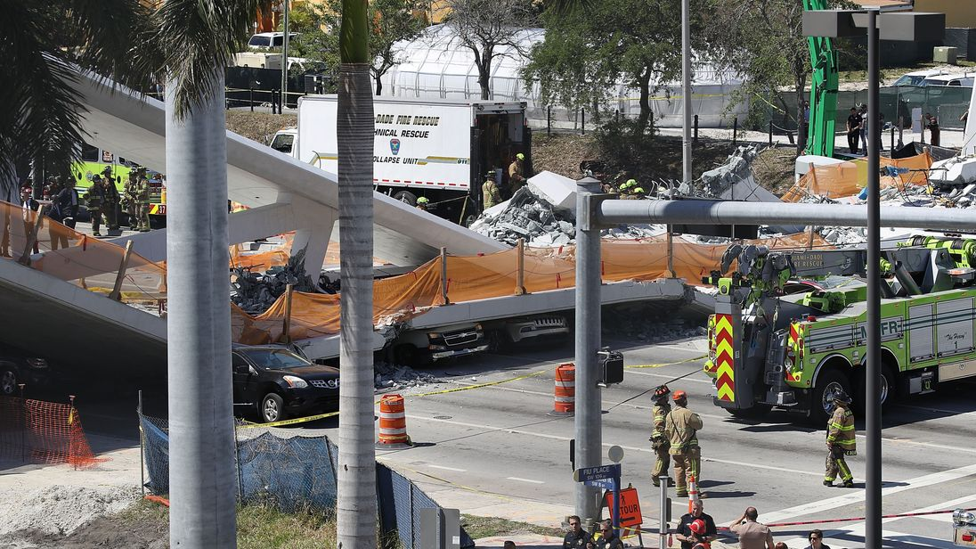 Miami bridge collapsed as cables were being tightened following 'stress test'