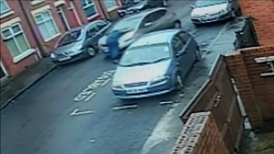An elderly man has been left in hospital following a collision in Gorton.