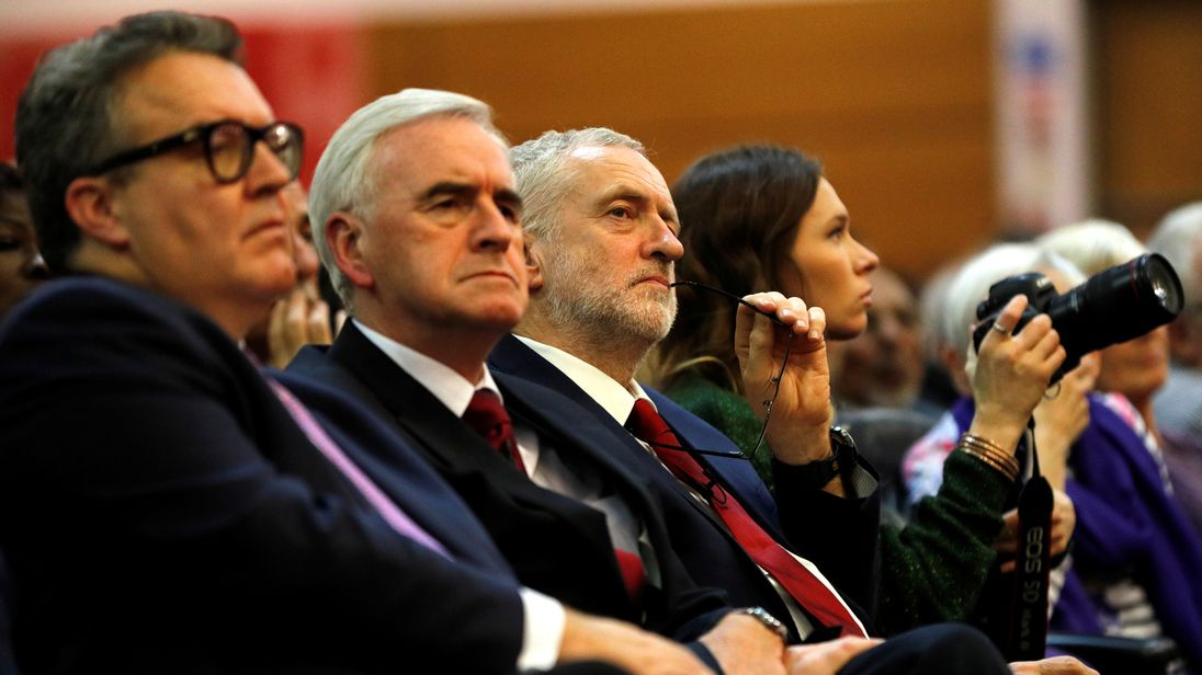 Left to right: Tom Watson, John McDonnell and Jeremy Corbyn