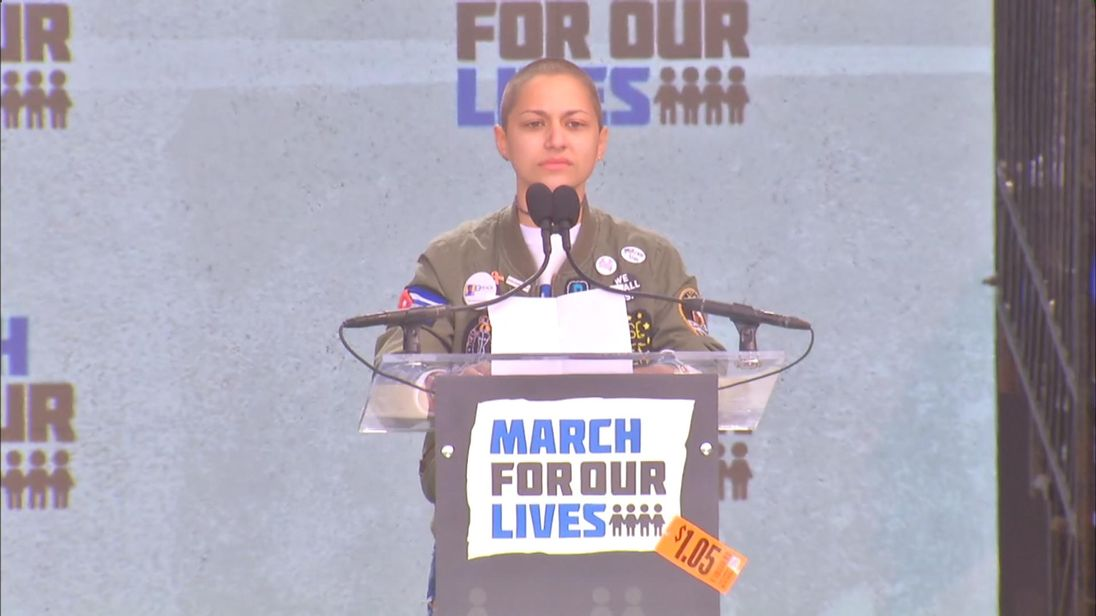 Emma Gonzalez speaks at the March For Our Lives