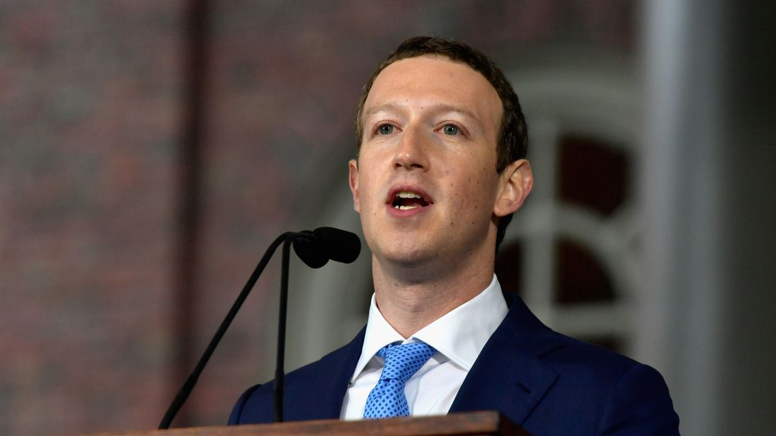 CAMBRIDGE MA- MAY 25 Facebook Founder and CEO Mark Zuckerberg delivers the commencement address at the Alumni Exercises at Harvard's 366th commencement exercises