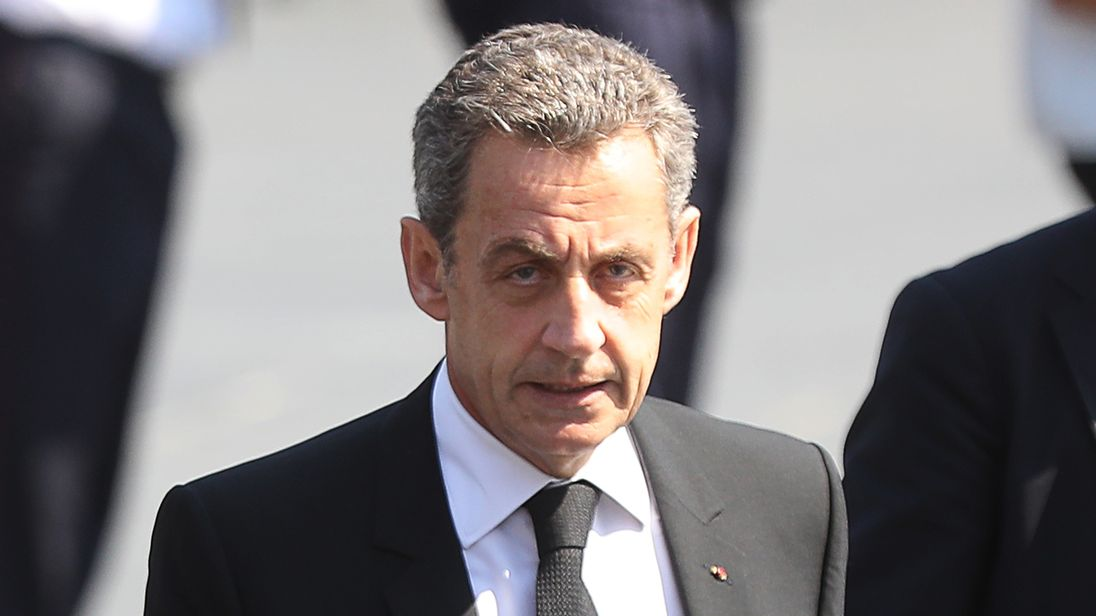 Ex-French president Sarkozy being held in police custody