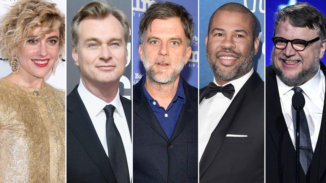Greta Gerwig, Christopher Nolan, Paul Thomas Anderson, Jordan Peele, Guillermo del Toro