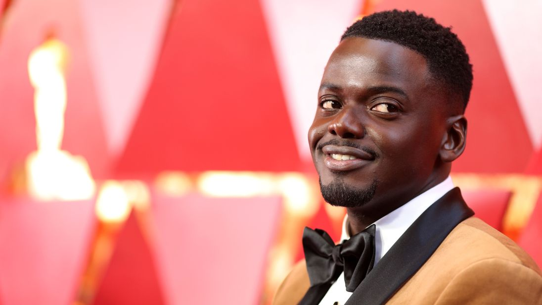 Daniel Kaluuya arrives at the 90th Academy Awards