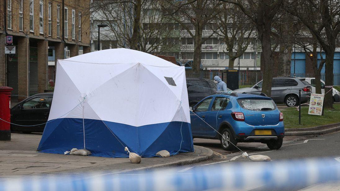 Police at scene in Enfield