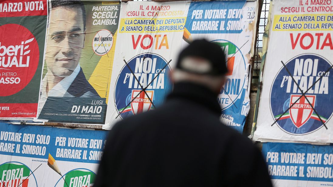 5-Star top party in Italian election, but without majority - projections