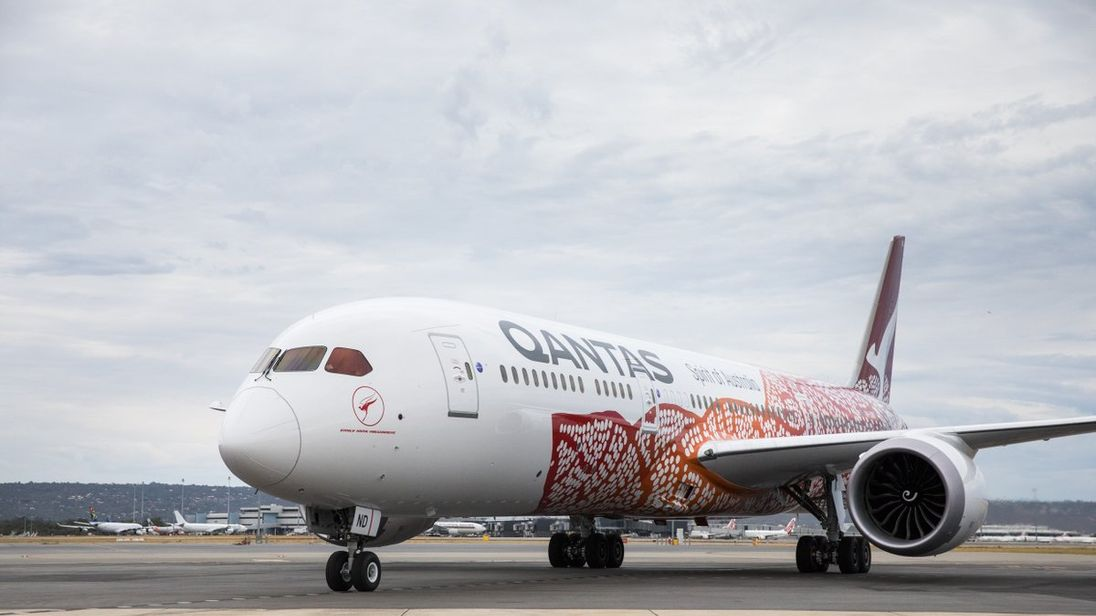 The Qantas Dreamliner 787 is now flying direct between Perth and London, taking about 17-hours. Pic: Qantas