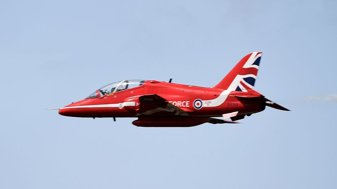 Red Arrows jet crashes at RAF Valley in Wales