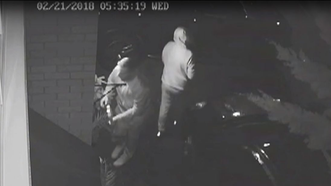 The thieves were caught on CCTV. Pic: West Midlands Police