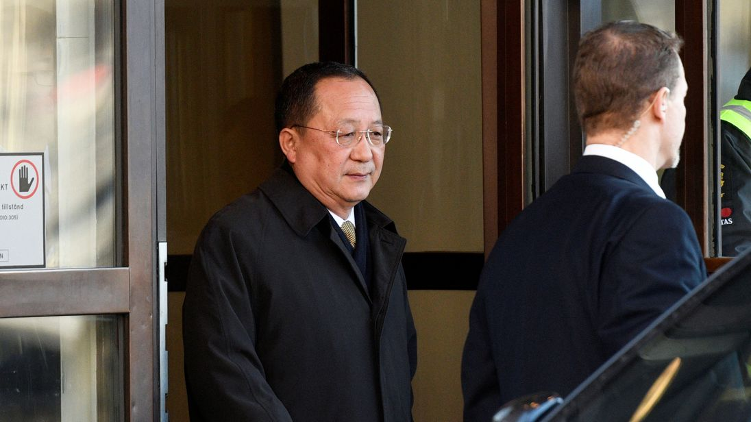 North Korean Foreign Minister Ri Yong Ho in Sweden