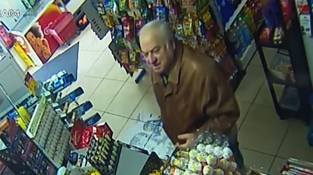 Russian spy caught on CCTV in Salisbury