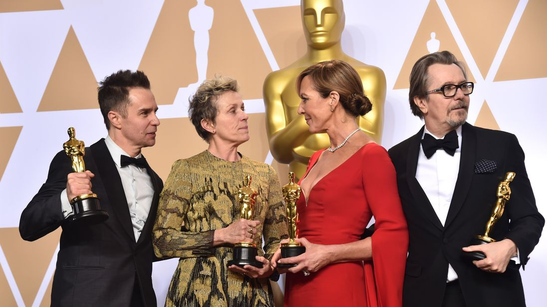 Sam Rockwell, Frances McDormand, Allison Janney, and Gary Oldman,