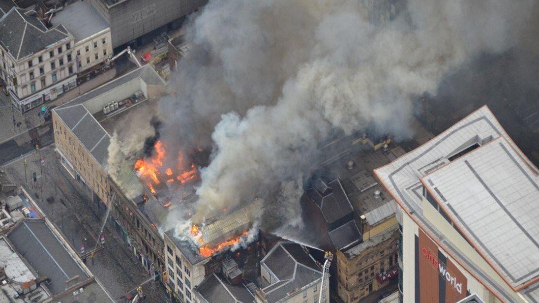 Glasgow fire: Huge blaze hits city centre building - properties evacuated