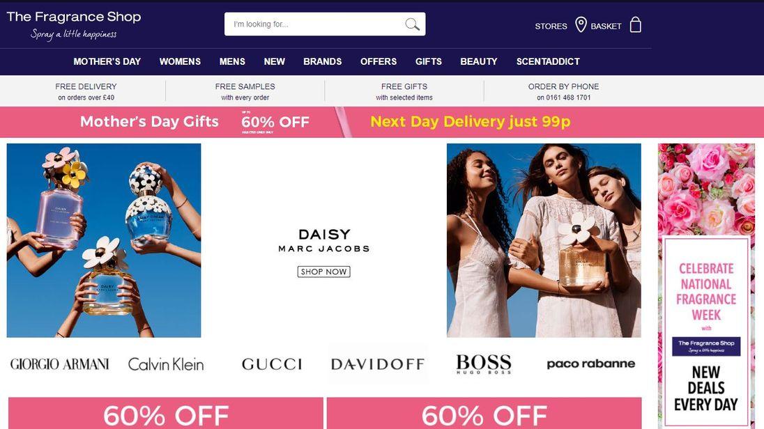 The Fragrance Shop website grab 8/3/2018