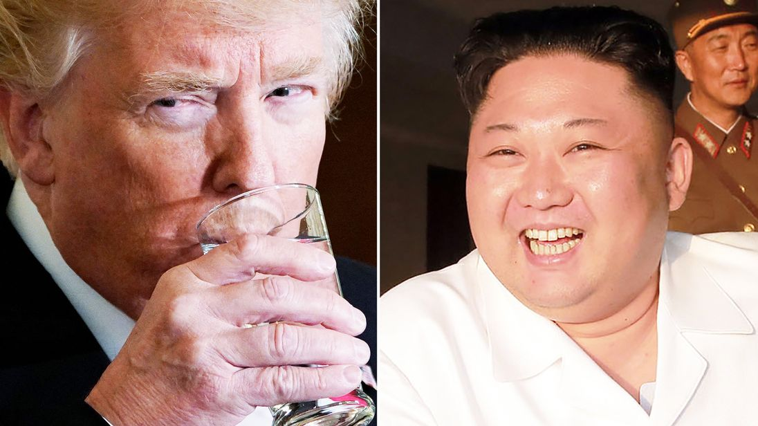 Trump and aides: We're meeting to re-schedule Kim Jong Un summit