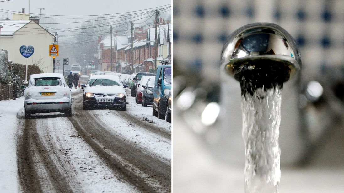 Extreme temperatures cause water chaos across UK