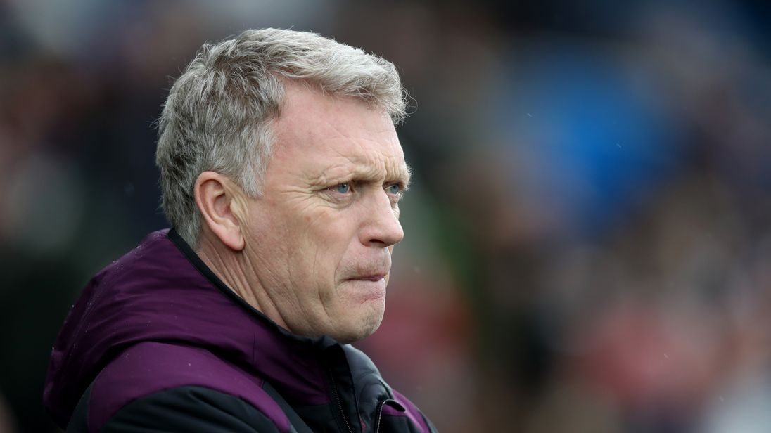 David Moyes looks on during the Premier League match between Swansea City and West Ham United at Liberty Stadium