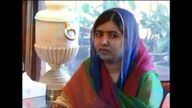 Malala during a meeting with Pakistani prime minister Shahid Khaqan Abbasi