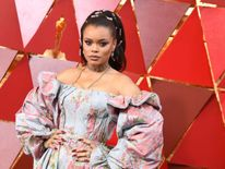 US singer Andra Day arrives for the 90th Annual Academy Awards on March 4, 2018, in Hollywood, California