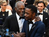 US actors Danny Glover (L) and Lakeith Stanfield arrive for the 90th Annual Academy Awards on March 4, 2018, in Hollywood, California