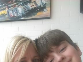 Alicia McColl and her son Kian