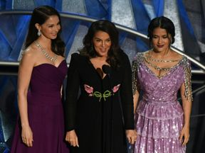 Ashley Judd, Annabella Sciorra and Salma Hayek in of the show's most powerful moments