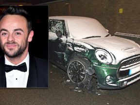 The car that McPartlin crashed into in Mortlake. Pic: Flynet