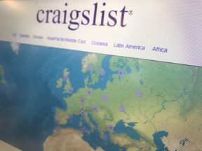 Craigslist said: 'We can't take such risk without jeopardising all our other services'