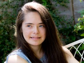 Sarah Merriman -Haringey 18 years old) with Down's Syndrome..
