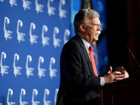 Former United States ambassador to the United Nations John Bolton speaks during the Republican Jewish Coalition spring leadership meeting at The Venetian Las Vegas on March 29, 2014 in Las Vegas, Nevada