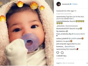 Kylie Jenner and and Travis Scott have shared the first photo of their baby daughter.