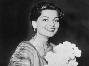 Lys Assia seen shortly after winning the very first Eurovision  in 1956