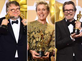 Guillermo Del Toro, Frances McDormand and Gary Oldman