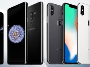 Samsung S9 (L) and the iPhone X