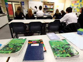 Pupils at Willamwood High School attend a math class on February 5, 2010 in Glasgow, Scotland. As the UK gears up for one of the most hotly contested general elections in recent history it is expected that that the economy, immigration, the NHS and education are likely to form the basis of many of the debates..