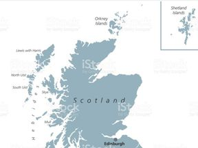 A map with Shetland with the offending box