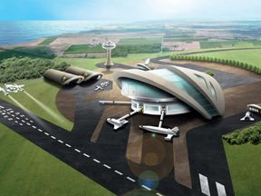 An artist's impression of the Prestwick spaceport