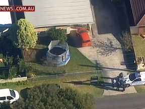 The scene of an alleged murder in Tootgarook, Victoria Australia. Briton Joanne Finch has been charged. Pic: Sky News Australia