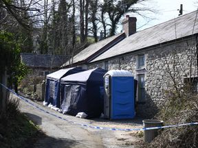 Reclusive Gaynor Jones, 87, has been dead for up to four years in the 19th Century stone cottage full of hoarded possessions. Pic: Wales News Service