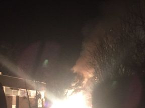 The substation in Saltburn exploded just before 7pm on Monday. Pic: Johanna Parks