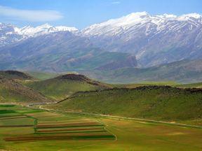 The Zagros mountains where the plane crashed. Pic: Alireza Javaheri